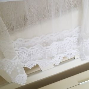Peek A Boot Tops - White Lace Undershirt